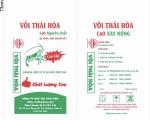 VÔI BỘT ( CaO xay mịn) DÙNG TRONG THỦY SẢN